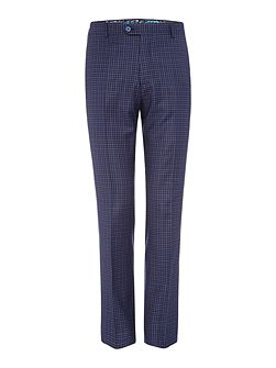 Hopski Blue Gingham Suit Trousers