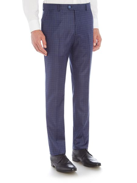 Ted Baker Hopski Blue Gingham Suit Trousers