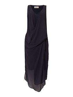 Chiffon layered drape dress