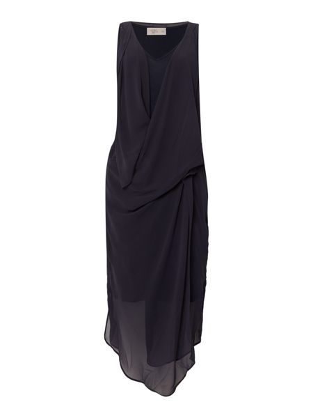 Label Lab Chiffon layered drape dress