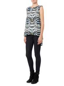 Label Lab Wave print sleeveless blouse