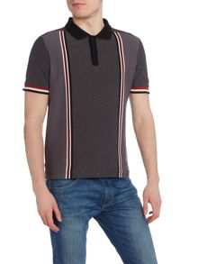 Merc Mens Short Sleeved Verticle Stripe  Polo Shirt