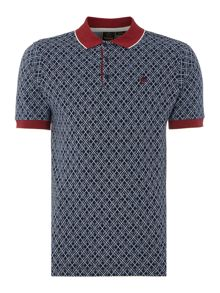 Merc Mens Short Sleeved Jaquard Polo Shirt