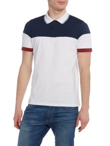 Merc Mens Short Sleeved Contrast Block Polo Shirt
