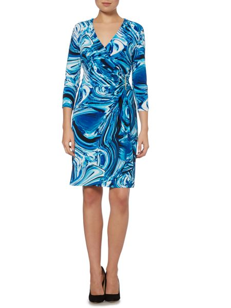 Episode Whirlpool print wrap dress