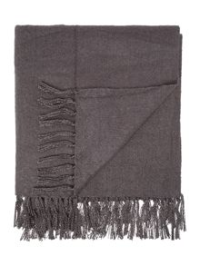 Linea Brushed throw, grey