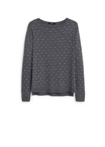Polka-dot pattern sweater