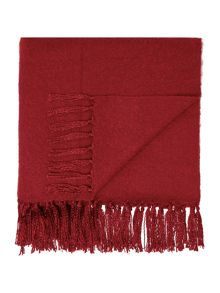 Brushed throw, red,