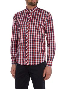 Merc Mens Long Sleeved Large Check Shirt