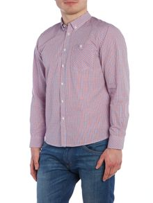 Merc Mens Long Sleeved Micro Check Shirt