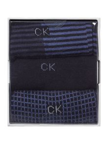 CK 3 pack stripe sock set