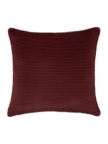 Satin pleat cushion, red