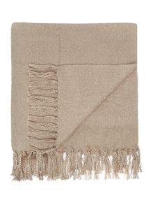 Brushed throw, taupe