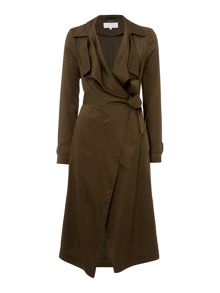 Tessa waterfall trench coat