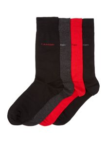 CK 4 pack plain socks