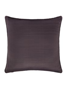Satin pleat cushion, charcoal