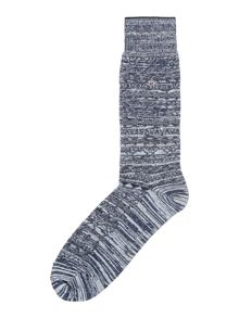 Calvin Klein CK fairisle textured sock