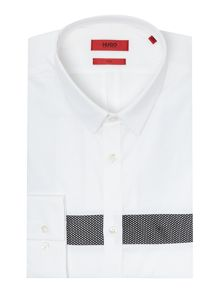 Hugo Ero Slim Mesh Stripe Insert Shirt