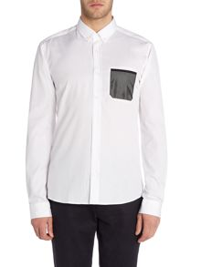 Hugo Enico Slim Mesh Pocket Shirt