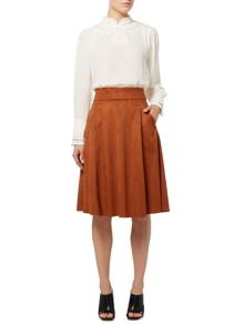 Suedette full skirt