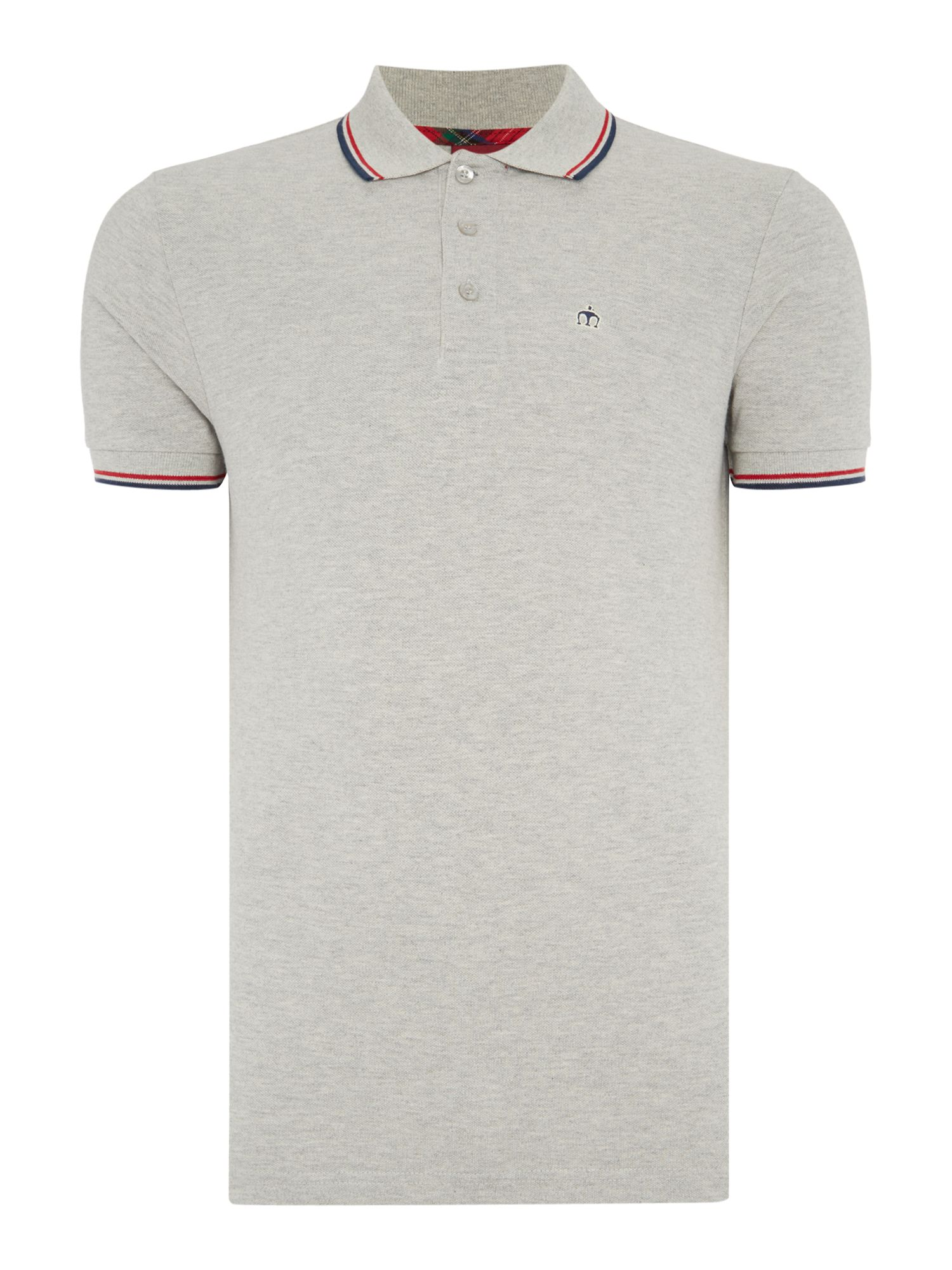 Men's Merc Card Classic Twin Tipped Polo Shirt, Grey
