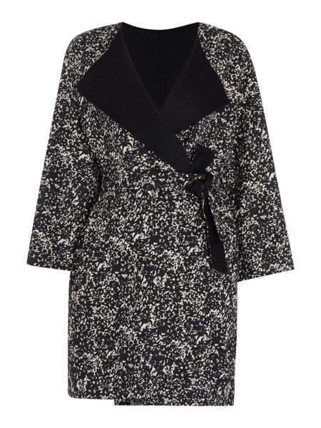 Max Mara Lente double faced printed wool coat