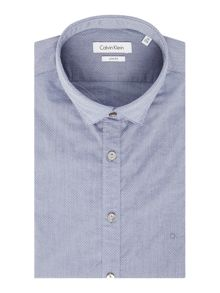 Bari Indigo Grey Dot Shirt