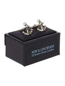 New & Lingwood Anchor Cufflink