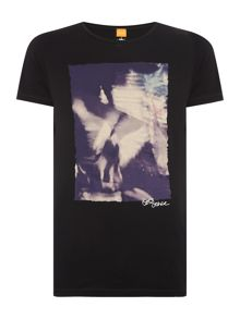 Hugo Boss Thurner 1 Slim Fit Bird Graphic T Shirt