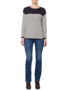 Linea Weekend Tjorn texture stripe silk mix jumper