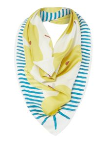 Radley Apples and pears silk square scarf