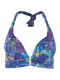Midnight Rainforest Twist Goddess Bikini Top