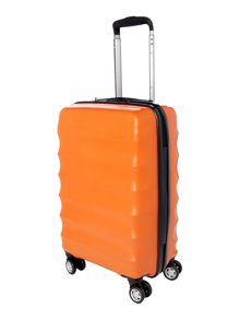 Juno 4 wheel orange cabin suitcase