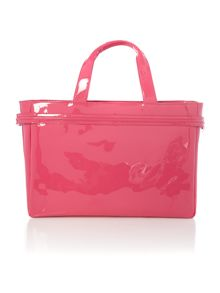 Patent pink medium tote bag