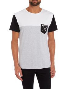 Nena and Pasadena Regular Fit Cut-And-Sew Pocket T Shirt