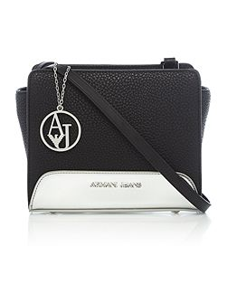 Armani Jeans Specchiato black small cross body bag