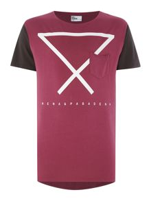 Nena and Pasadena Regular Fit Triangle Graphic T Shirt