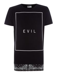 Nena and Pasadena Regular Fit Longline Evil T Shirt