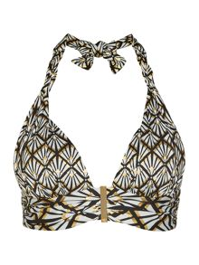 Biba Deco Foil Goddess Twist Top
