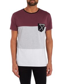 Nena and Pasadena Regular Fit Cut-And-Sew Stripe T Shirt