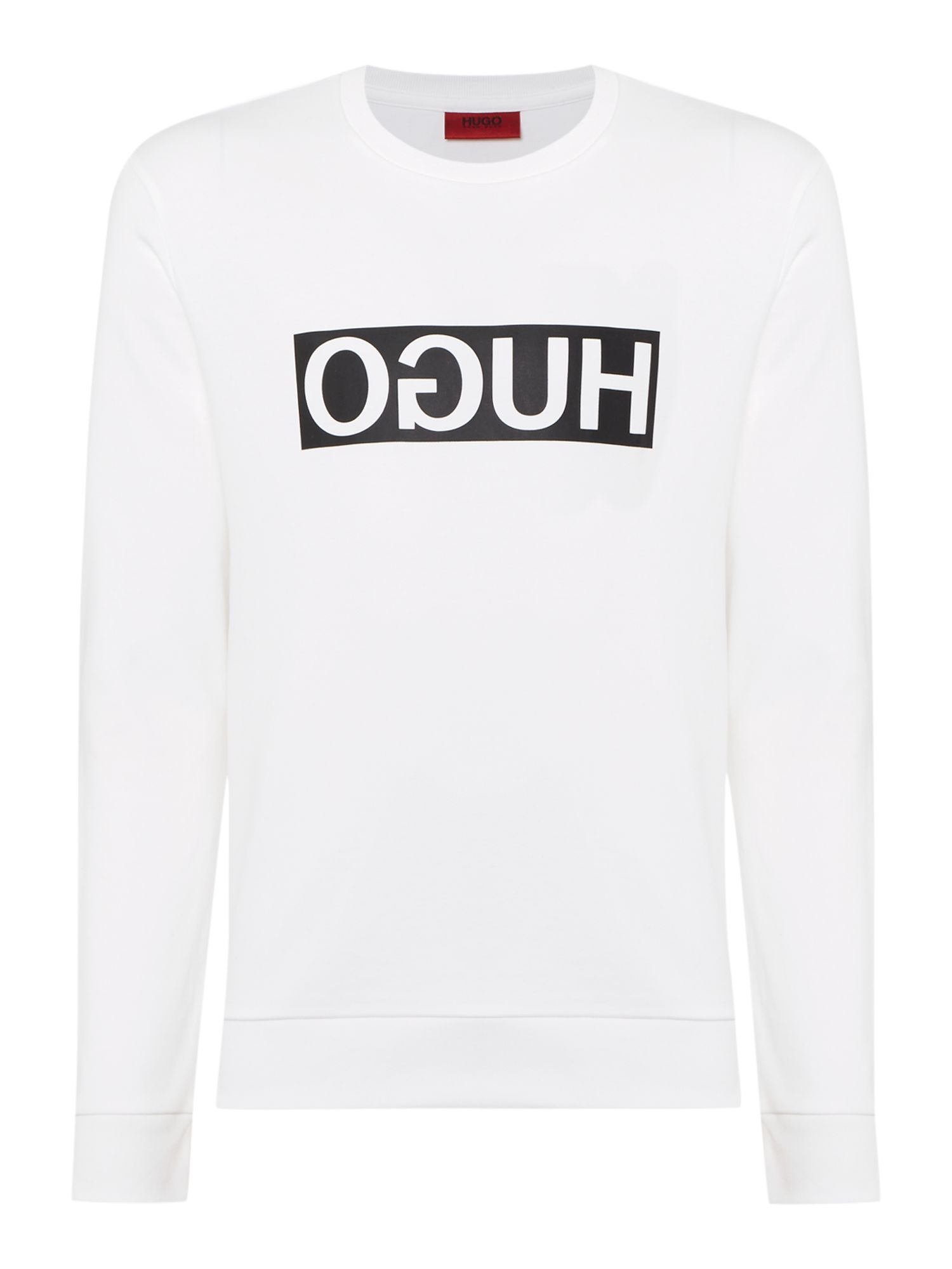 Men's Hugo Dicago Logo Sweater, White