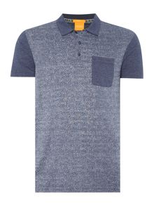 Pauleo Slim Fit All Over Herringbone Polo