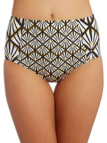Biba Deco Foil High Waist Bikini Brief