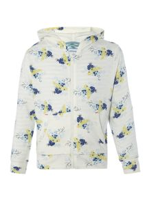 Little Dickins & Jones Girls Floral printed hoodie