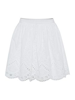 Girls Embroidered lace skirt