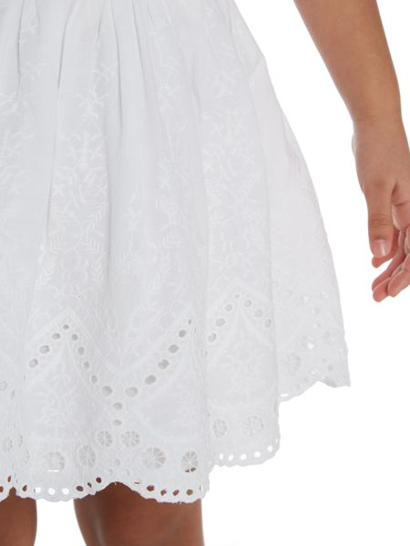 Little Dickins & Jones Girls Embroidered lace skirt
