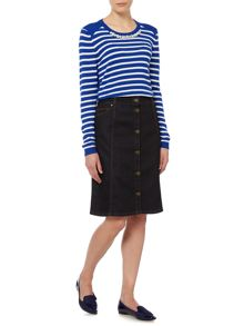 Dickins & Jones Denim Button Down Skirt