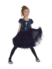 Little Dickins & Jones Girls Sequin front tutu dress