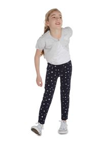 Little Dickins & Jones Girls Silver star print leggings