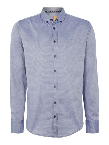 Hugo Boss Edipoe Slim Fit Micro Geo Dobby Shirt